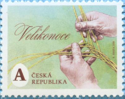 捷克2月21日发行2018复活节邮票