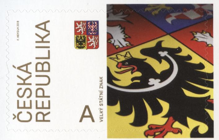 捷克2月21日发行伟大的国家标志系列邮票