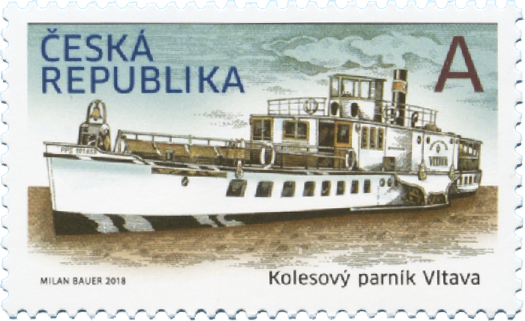 捷克3月14日发行历史交通工具伏尔塔瓦河蒸汽船邮票