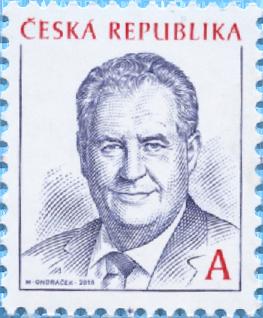 捷克4月18日发行共和国总统米洛斯泽曼邮票