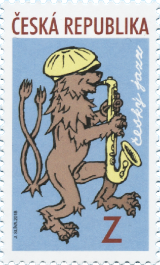 捷克5月2日发行捷克爵士乐邮票