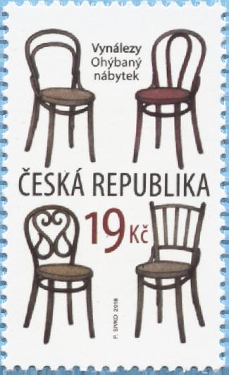 捷克6月20日发行发明:曲木家具邮票
