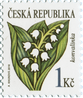 捷克6月20日发行山谷的百合花邮票