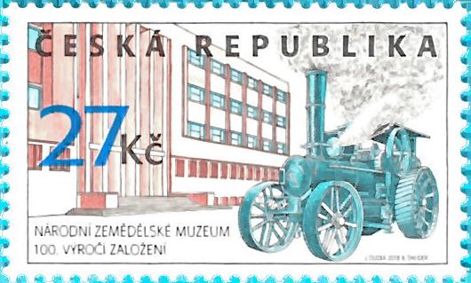 捷克9月19日发行国家博物馆100周年邮票