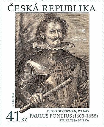 捷克11月14日发行邮票艺术作品:Paulus Pontius邮票