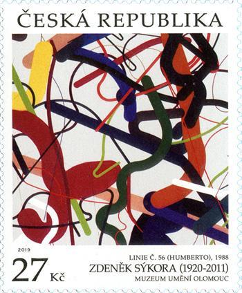 捷克6月12日发行邮票艺术品:Zdeněk Sykora邮票
