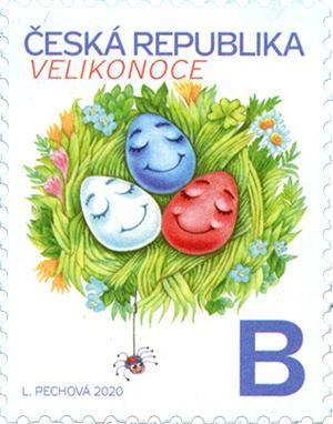捷克2月26日发行复活节邮票