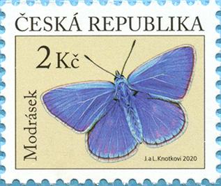 捷克10月8日发行蝴蝶邮票