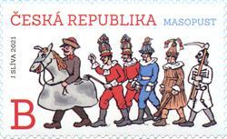 捷克1月20日发行狂欢邮票